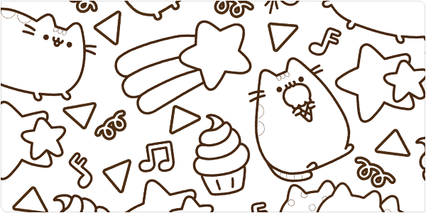 Pusheenicorn Coloring Pages
