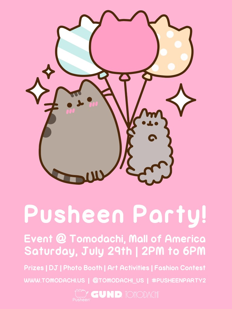 Pusheen Party 2 Poster Design_v12